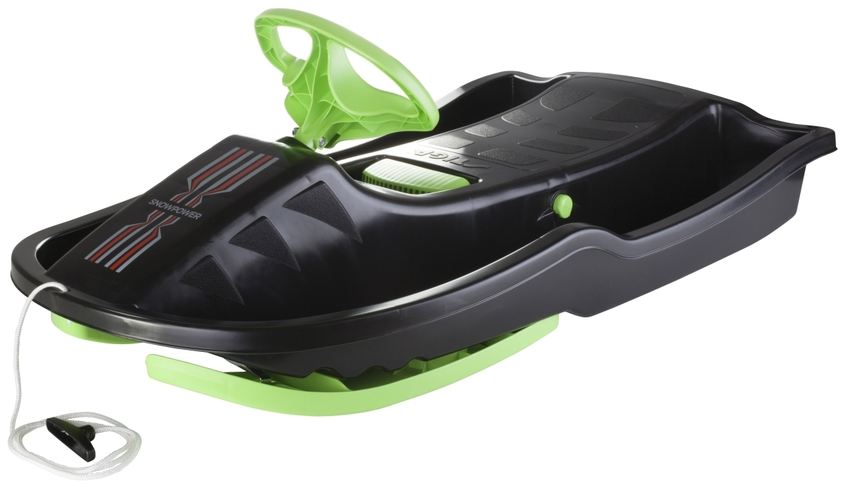 Snow Power Lenkschlitten Black/Green