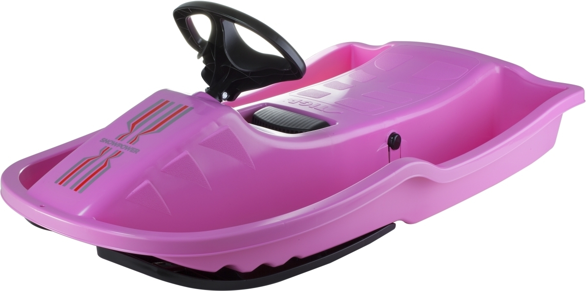 Snow Power Lenkschlitten Pink